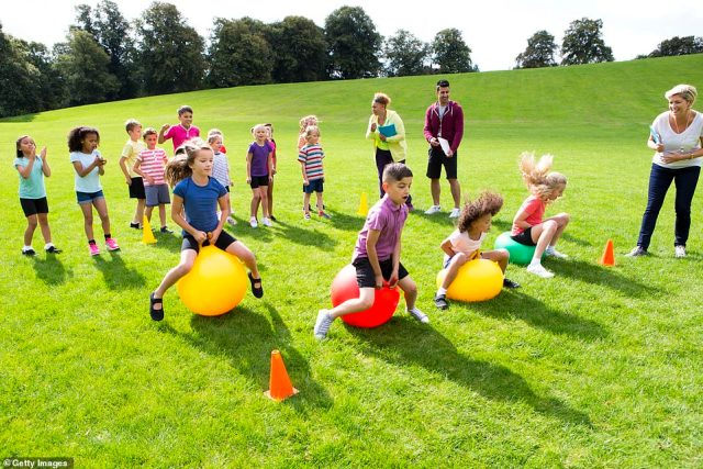 Sports will return meaning children will be able to take part in outdoor activities (file picture)