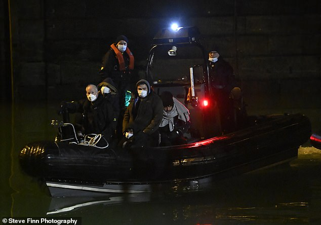 More than 60 migrants arrived in Britain overnight after crossing the Channel from France