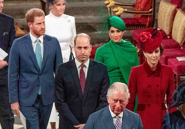 Elsewhere, Prince William was left furious at Meghan and Harry's 'insulting, disrespectful and petulant' parting shot at the Queen, it was claimed at the weekend