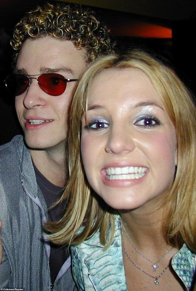 Rare photos show Britney Spears celebrating her 18th birthday party with Justin Timberlake and her family at a bar in New York City, DailyMail.com can reveal