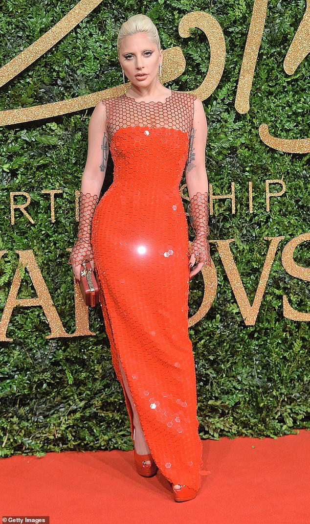 Seeing red: The comedian, 32,recalled that a furious Lady Gaga called him an 'obscene word' after he let slip to the crowd that she was having a 'wardrobe malfunction' (Pictured at theBritish Fashion Awards in 2015)
