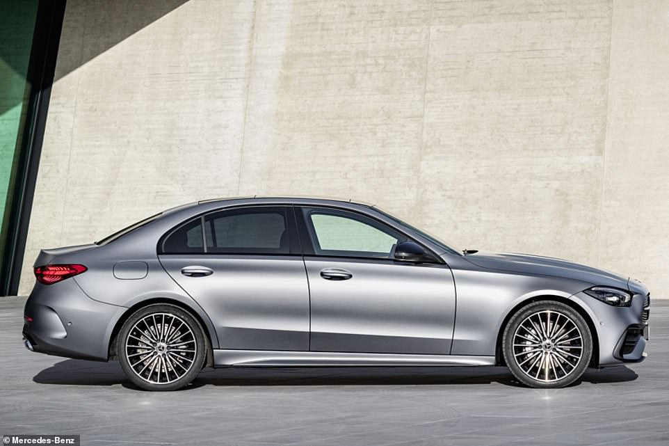 Mercedes-Benz designers have given the C-Class a slightly more aggressive look, with a chiseled profile and almost vertical front and rear end