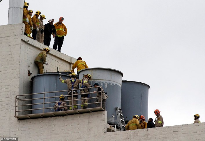 Mystery:Lam's naked body was found float in the hotel's water tank on the roof on February 19, 2013, after hotel guests complained the water tasted and smelled bad