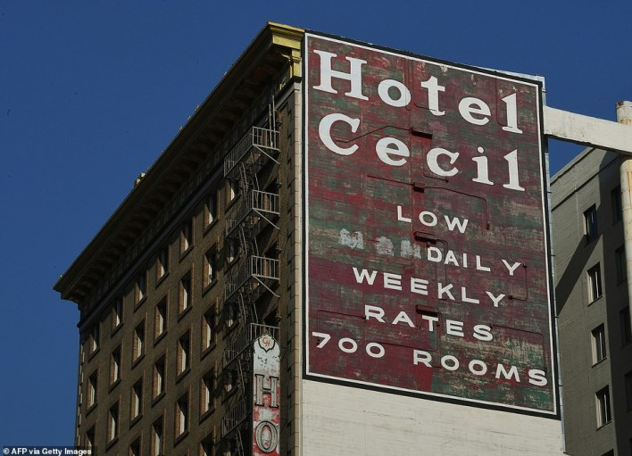 Spooky subject: The Cecil Hotel in Los Angeles is the focus of Netflix's new true-crime seriesCrime Scene: The Vanishing at the Cecil Hotel