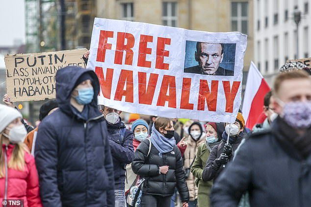 Earlier this month, a court sentenced Navalny to two years and eight months in prison for violating the terms of his probation while recuperating in Germany.The sentence stems from a 2014 embezzlement conviction that Navalny has rejected as fabricated