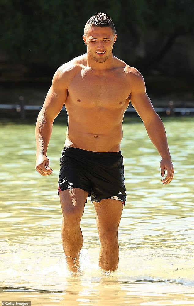 Sam Burgess (pictured) allegedly tested positive to cocaine in a roadside test after being pulled over by cops on Monday