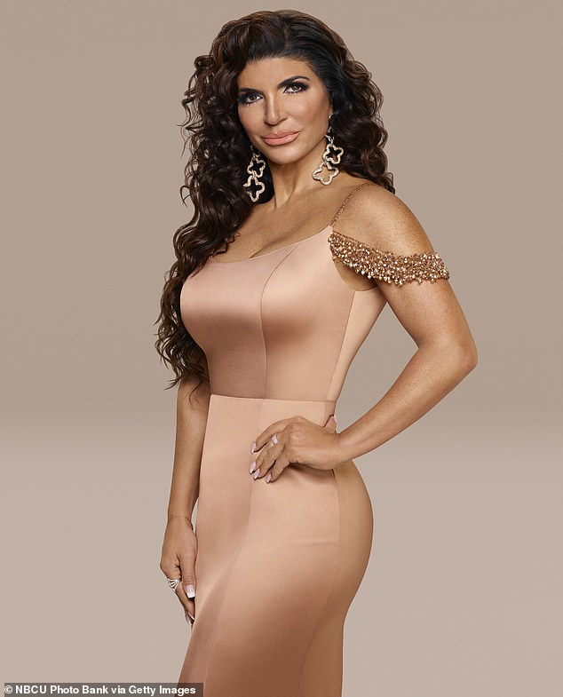 Reality star:Teresa Giudice, shown in a season 11 promo still for The Real Housewives Of New Jersey, has been accused of making up a cheating rumor because she's afraid of being fired