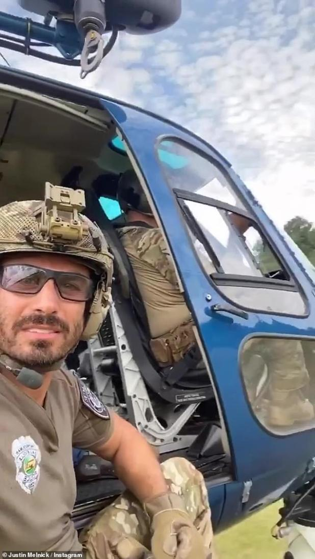 He is one of the stars of the SEAL team of the CBS television show.  And over the weekend, Justin Melnick sustained minor injuries in a stunt accident while filming a commercial project.