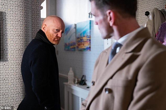 Time to go:Max turned his back on Albert Square last week after realising there was nothing left for him there and in a heartbreaking moment, he left behind his granddaughter Abi