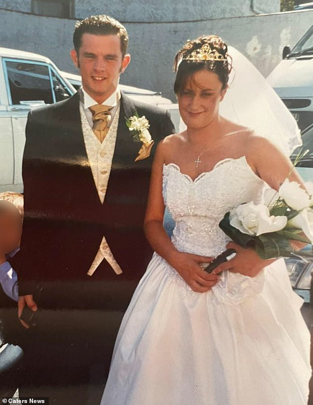 Anthony, who owns a Subway franchise, said: 'Tracey and I have always been close - we are more like best friends. 'I walked her down the aisle on her wedding day as our dad couldn't make it. They are pictured on Tracey's wedding day in 2003