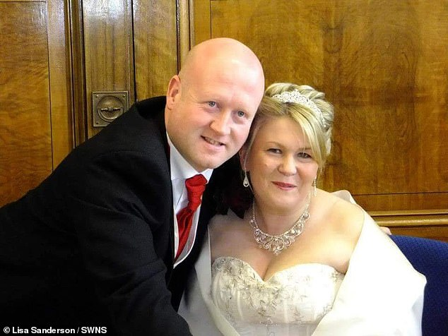 Paul and Lisa began battling to see who could lose the most weight each month, while following a Weight Watchers diet plan. Pictured: The couple before