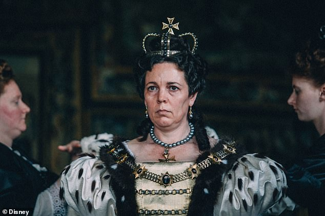 Pictured, Olivia Colman in her Academy-award-winning performance as Queen Anne in The Favourite, directed by Yorgos Lanthimos