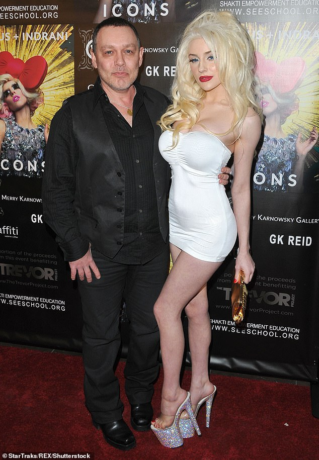 Moving on: Courtney, who recently had a brief romance with Megan Fox's ex-ex Brian Austin Green, finalized her divorce from actor Doug Hutchison last year (pictured in 2013)