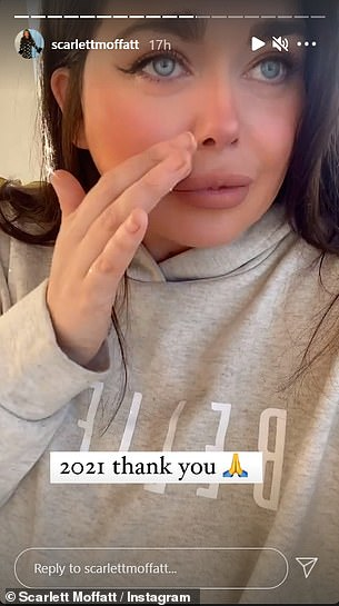 The Gogglebox star, 30, took to her Instagram stories to share her excitement with her followers