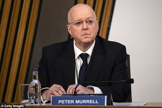 SNP Chief Executive, Peter Murrell arrives to give evidence to a Scottish Parliament committee at Holyrood in December