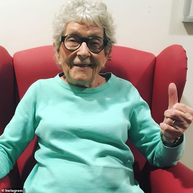 Sign her up: Gogglebox star Emmie Silbery, 91, [pictured] who returned to the Foxtel series this season, is 'ready and willing' to get vaccinated against COVID-19 as soon as possible