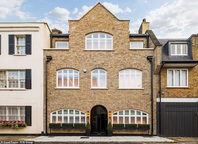 A view of Culross House from the outside. The modern townhouse mansion houses 8,051 sq ft of complete luxury in the heart of London