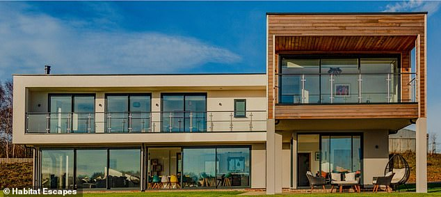Campsites and caravan parks can reopen from today as long as the only shared facilities are washing areas, toilets, water points and waste disposal points. Pictured: Luxury holiday retreat in Dorset