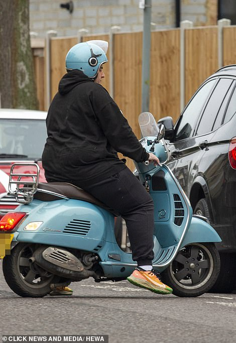 Motorcycle: Moved to surgery on his blue Vespa