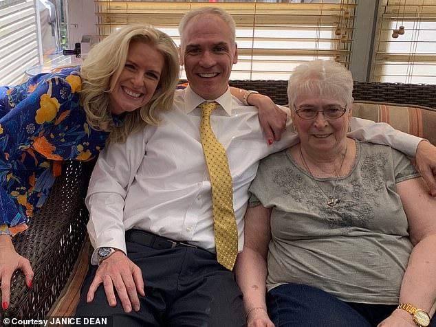 Dee Newman is pictured above right with Janice Dean's husband Sean