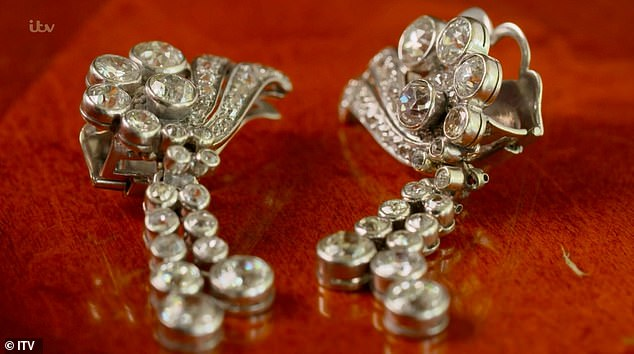 Pawnbroker DanHatfield also revealed he would pay a staggering £70,000 for the diamond earrings (pictured) because 'the type of cut is actually really, really popular'