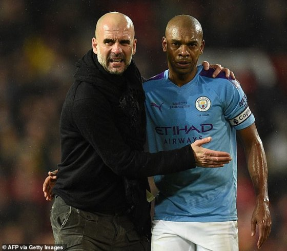 Chief Pep Guardiola praised Fernandinho for his influence on the team