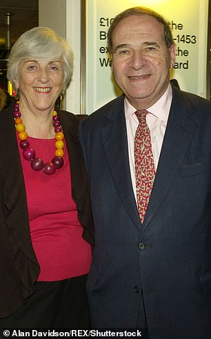 Former Home Secretary, the late Lord Brittan, with his wife Lady Brittan