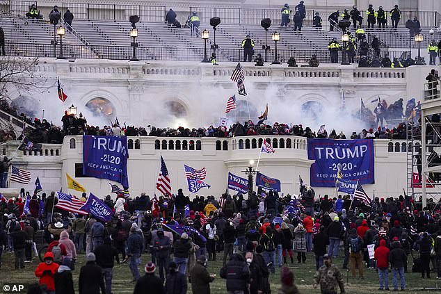 Architect of the CapitolBrett Blanton said his workforce had been outside prior to the riot, painting the inaugural platform that is on the west side of the Capitol Building. Workers were drawn inside as the masses formed