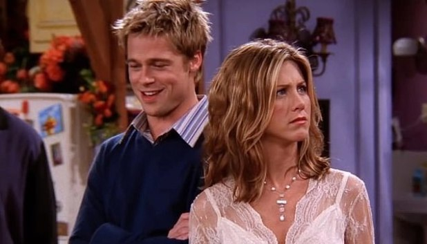 Did you hear it?  As the images show, Aniston had a habit of clearing her throat, especially before telling a particularly funny line or joke;  seen in 2001