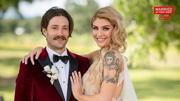 Love story: Booka has become a fan favourite for her budding romance with hipster groom Brett Helling on the Channel Nine show