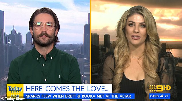 Trouble in Paradise already? On Wednesday, Married At First Sight's Booka Nile and Brett Helling appeared on Today Extra via a live cross from two different cities