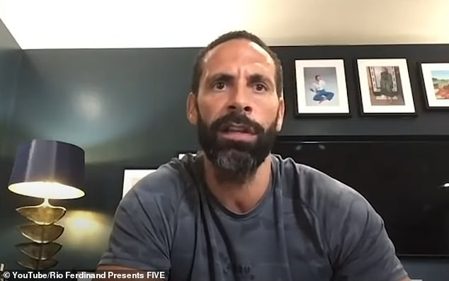 'I don't like it!' Rio Ferdinand has revealed he uses brown dye to transform his grey facial hair (pictured last year)