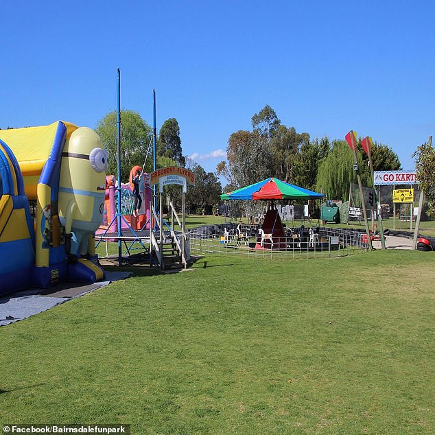The entire area along with the house is for sale at $2,300,000 (pictured: the theme park for sale)