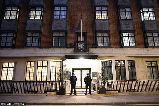 The Duke was admitted to King Edward VII Hospital in London's Marylebone, pictured this morning