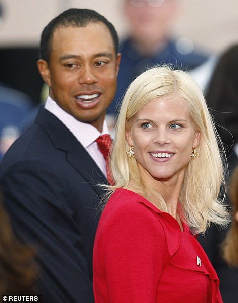 Uchitel recalled how Woods connected her with his wife Elin Nordegren in November 2009. Over the course of a 30-minute phone call, Uchitel sought to convince Nordegren that she was not having an affair with Woods. Pictured: Woods and Nordegren in October 2009