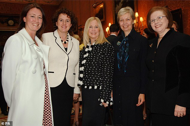 Fiona Cannon (far left at Bucking Palace reception with four other female Lloyds TSB executives), Group Sustainable Business Director, Lloyds Banking Group, hailed the results of the review