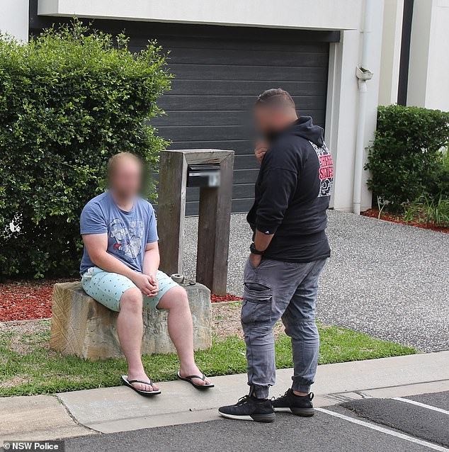He was taken to Castle Hill Police Station and charged with a slew of offences including manufacture prohibited drugs and possess or use a prohibited weapon without permit