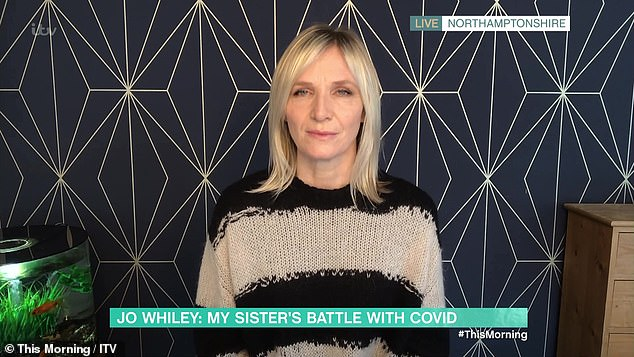 'It was the cruellest twist': Jo claimed This Morning last month that her sister 'refused to talk to her' when the DJ was offered the Covid-19 vaccine before her