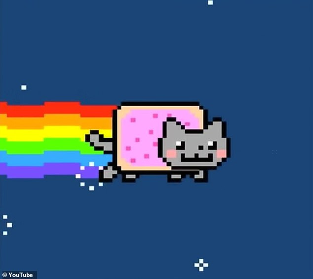 An online marketplace for digital artwork with its own currency called Bitcoin has been taking the internet by storm - in part thanks to a few sales with astonishingly high price tags. One of those was an NFT with a one-of-a-kind digital rendition of the Nyan Cat meme (pictured) which sold for about $590,000, in an online auction on February 19