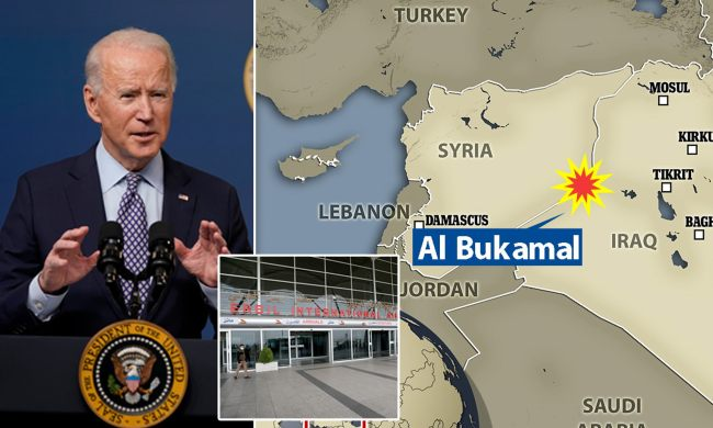 Biden bombs Syria: US airstrike destroys multiple facilities used by  Iranian-backed militia | Daily Mail Online