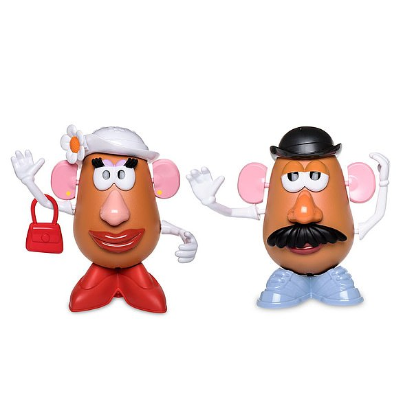 A Mr and Mrs Potato Head playset from the Disney Store.  Mrs. Potato Head first appeared in Toy Story