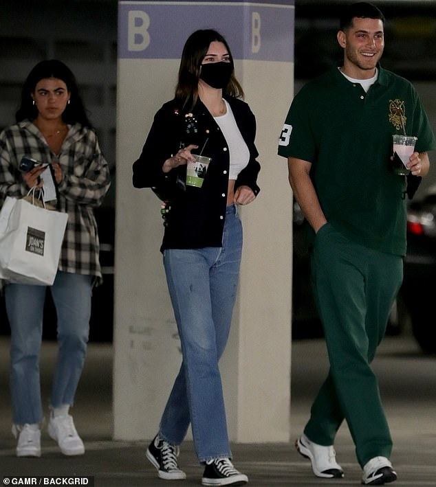 On the go:Kendall Jenner put her credentials on display while stepping out in Los Angeles this Friday with her pal Fai Khadra