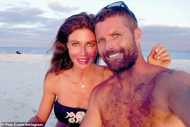 Pete Evans pictured with his wife Nicola Robinson.  He unexpectedly announced at 1 a.m. on February 12 as a Senate candidate for the Great Australia Party (GAP) in the upcoming federal election.
