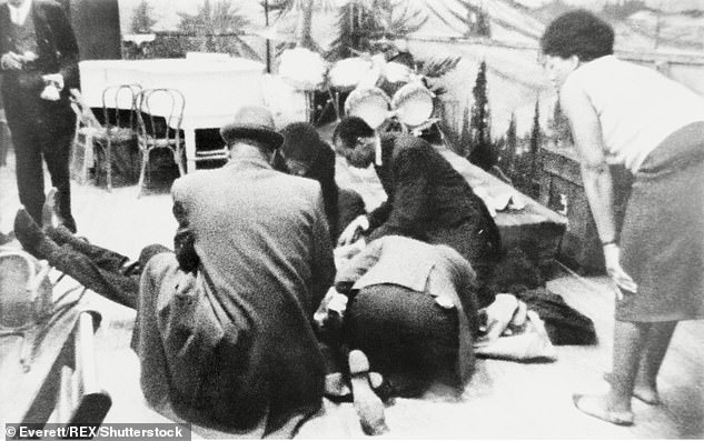 Malcolm X was shot seconds after stepping to a lectern to speak inside the Audubon Ballroom on February 21, 1965