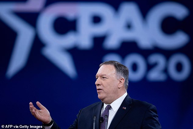 Former Secretary of State Mike Pompeo spoke at CPAC Saturday afternoon, touting the fact that he could 'let it rip' because he's no longer America's top diplomat