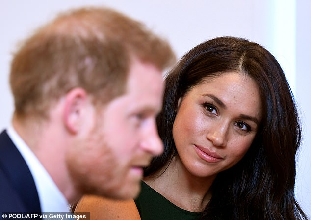 The BBC and ITV are understood to still be interested, along with the Discovery channel, although BBC sources said it would not be 'pulling out its chequebook'. Harry and Meghan are pictured in 2019