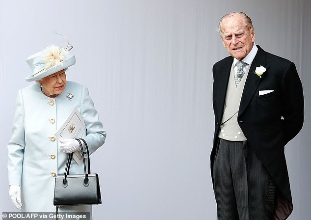 The Duke of Edinburgh (pictured with the Queen in 2018), 99, was admitted to King Edward VII Hospital in London last Tuesday as a precautionary measure after feeling unwell - but walked into the building unaided