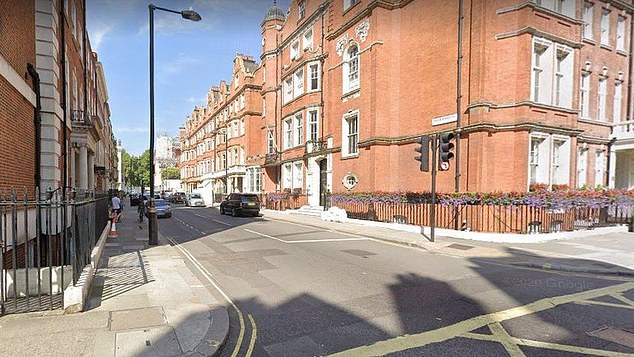 Green Street, near Hyde Park, Mayfair, where 50 people were fined £800 each for partying and an organiser was handed a £10,000 penalty