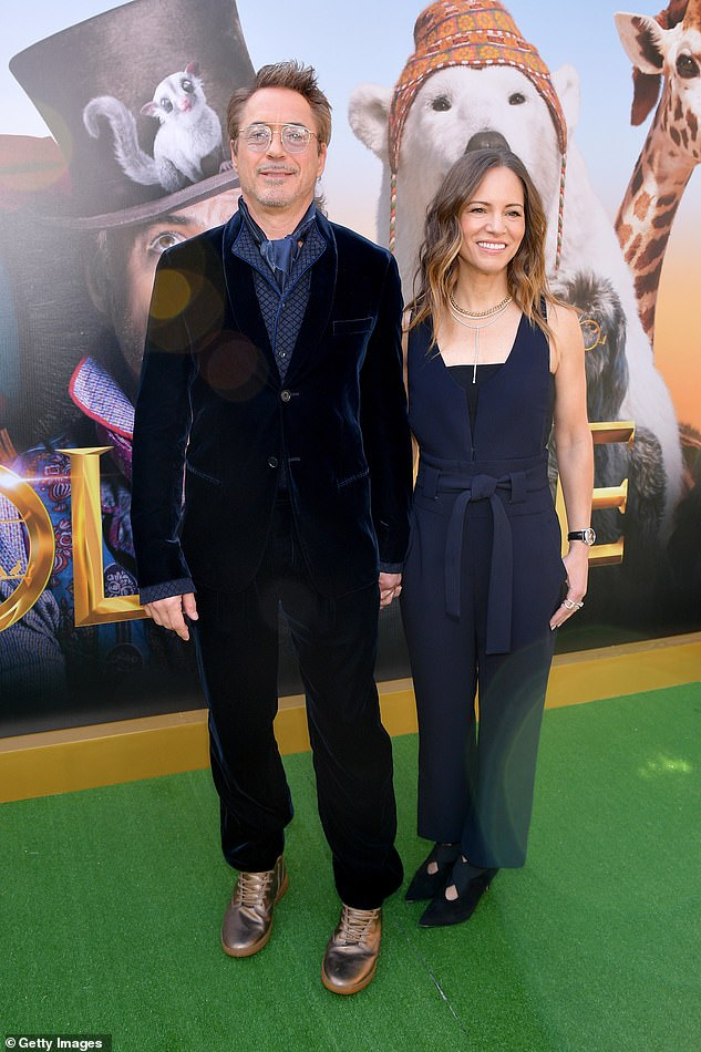 Long-term: The Avengers star, who has played the role of Tony Stark since 2008, has happily been married to director Susan, 47, since 2005 (pictured in 2020)