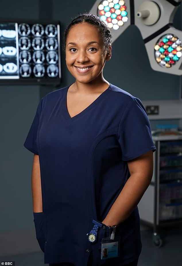 Doting mother: The actress played Libby Fox in EastEnders and portrayed Nicky McKendrick Holby City (pictured)